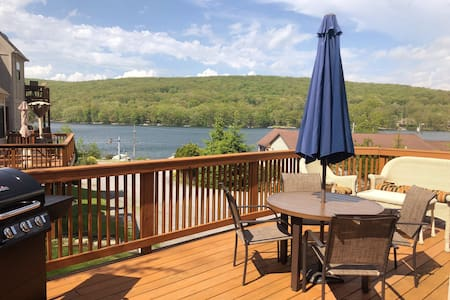 NEW! Lake view three-level cozy townhome!