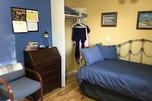 A comfortable single bed that has a pull out bed. For a single more floor space but can accommodate two..