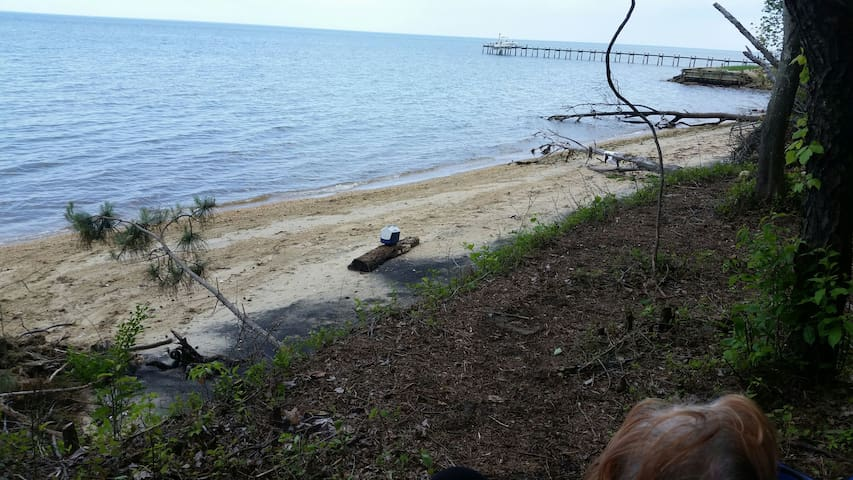 one of 2 sites private beach to Camp or RV