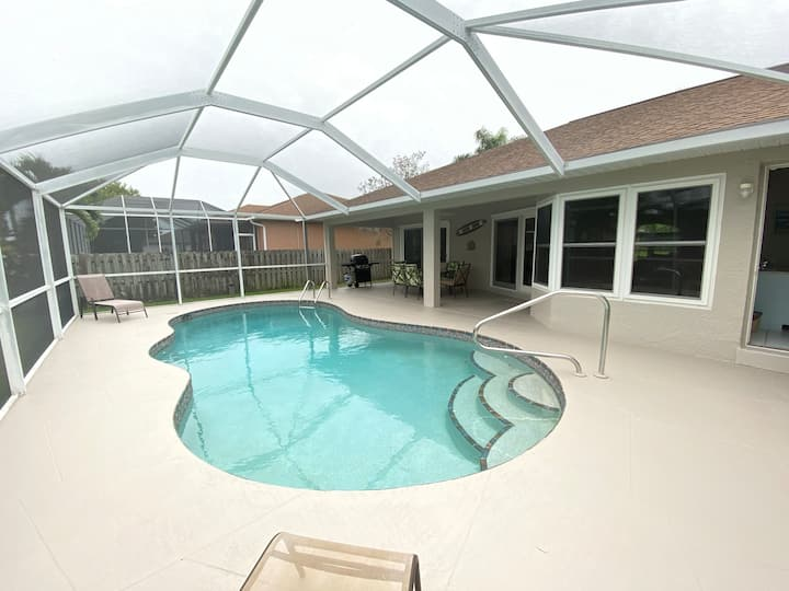 Sought after Cape Coral location with heated pool