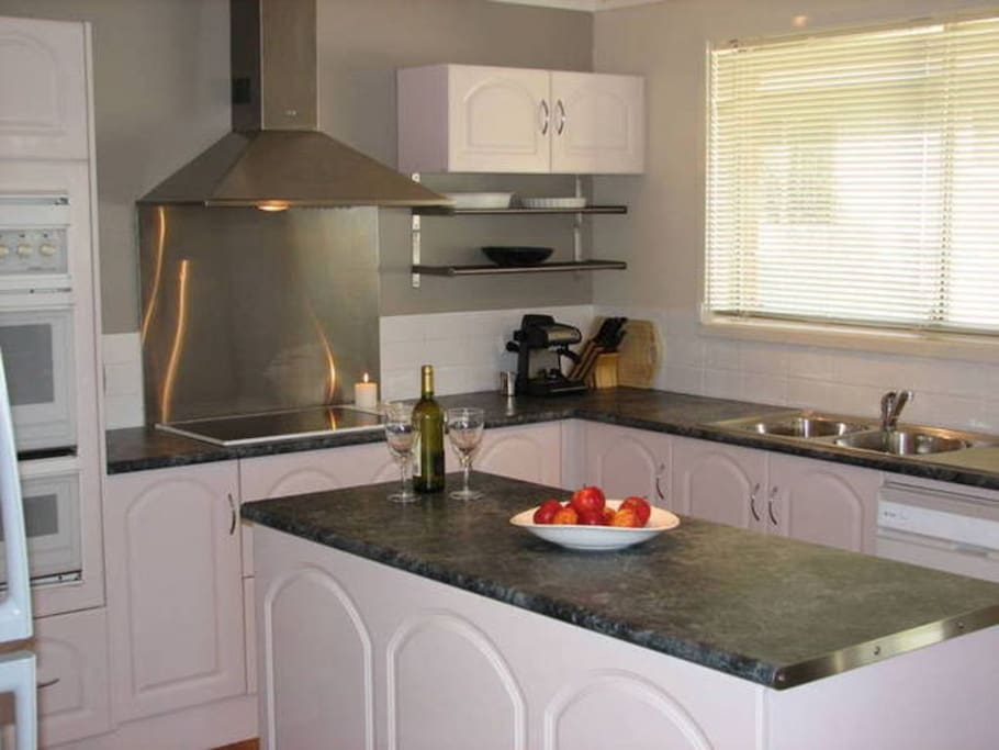 Kitchen equipped to handle that quick holiday meal or a large family meal