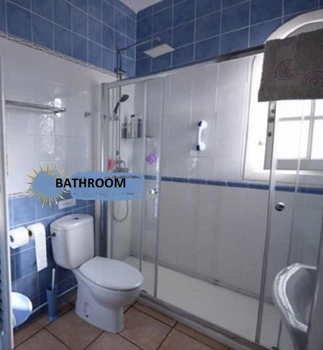The newly reformed bathroom with double shower