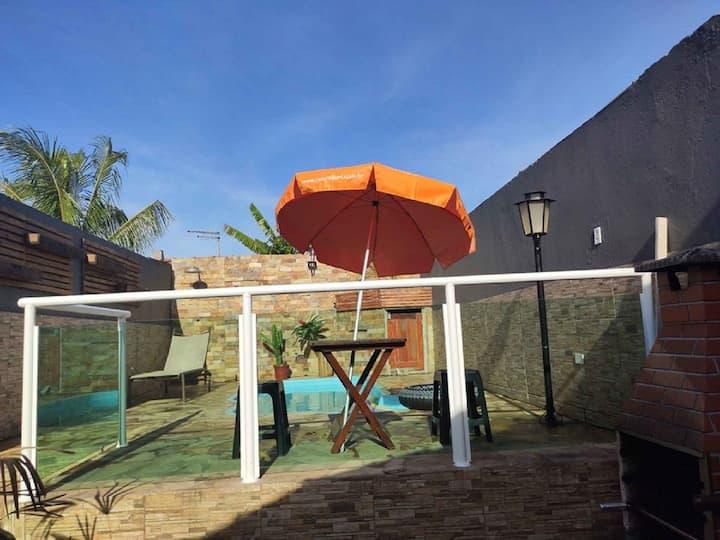 Casa em Mongaguá com Piscina a 500 mt da praia