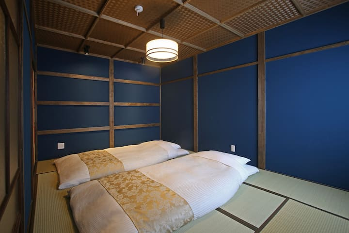 Bedroom with thick futon beds(Up to 4 people) 和室(最大4名)
