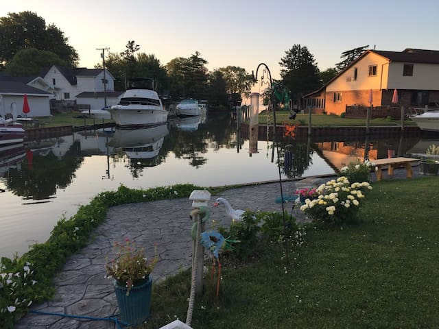 """Little Venice"" On the canals of Lake St.Clair."