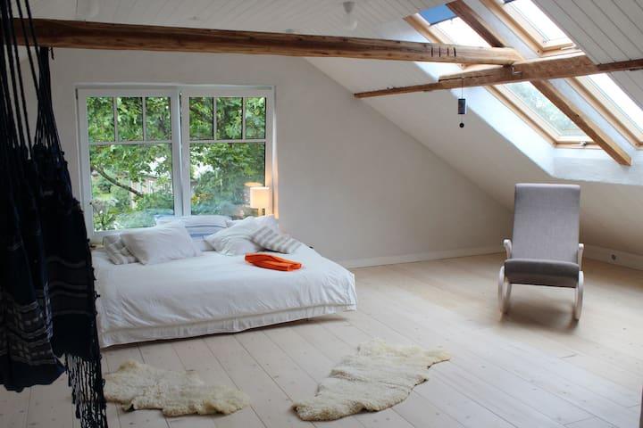 Spacious attic apartment in the centre of Viljandi