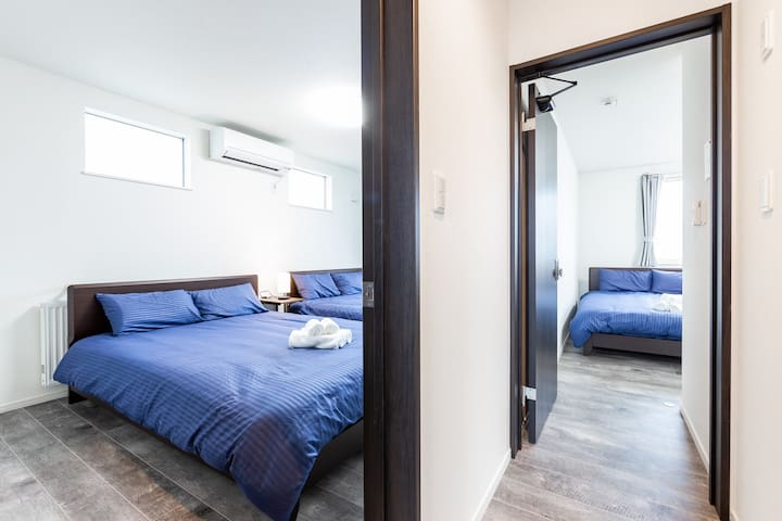 There are four clean bedrooms. This is a good choice for families.