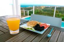 Breakfast in paradise.