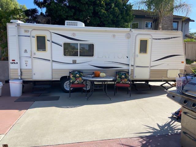 Private RV in the backyard Oasis
