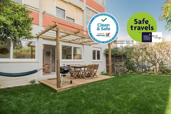 Clean&Safe Beach House w/ courtyard Airy&Fresh