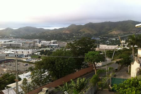 Bedroom has views over the harbour - Port Moresby