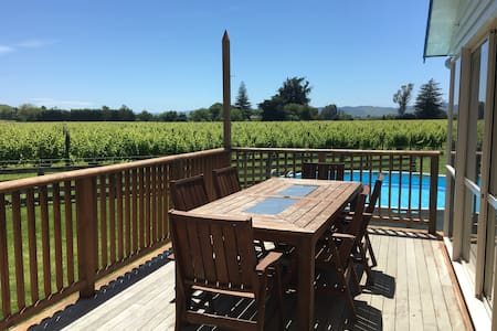 Family-friendly, Sunny Spot with Vineyard Views