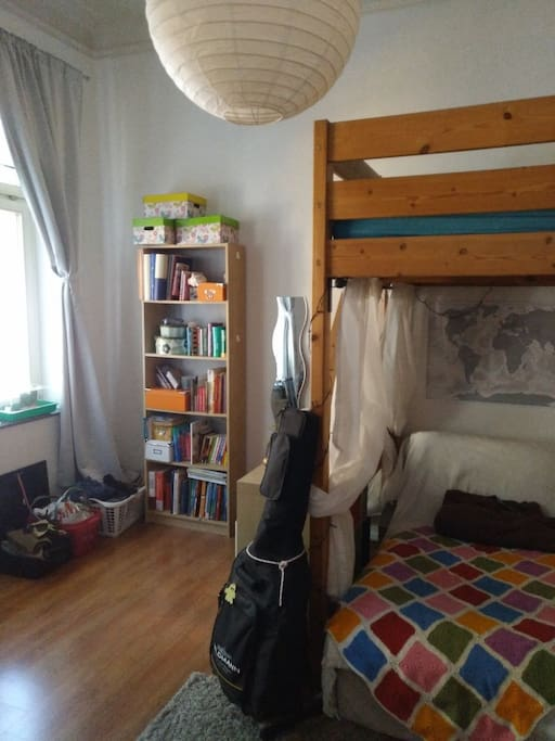 The room with loft bed