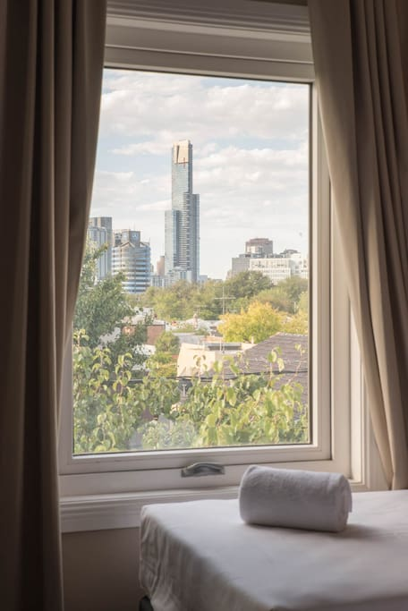 City view from your bedroom