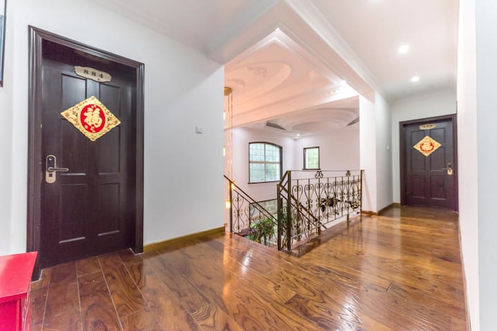 DSN奢华亲子房,欧式别墅,地铁二号线华夏东路站100米