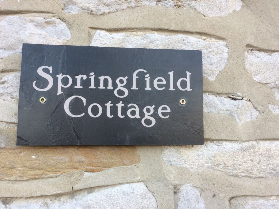 sign to look out for:   Springfield Cottage