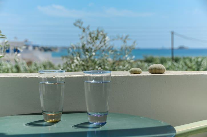 StudiosVrettos double room with sea view or garden