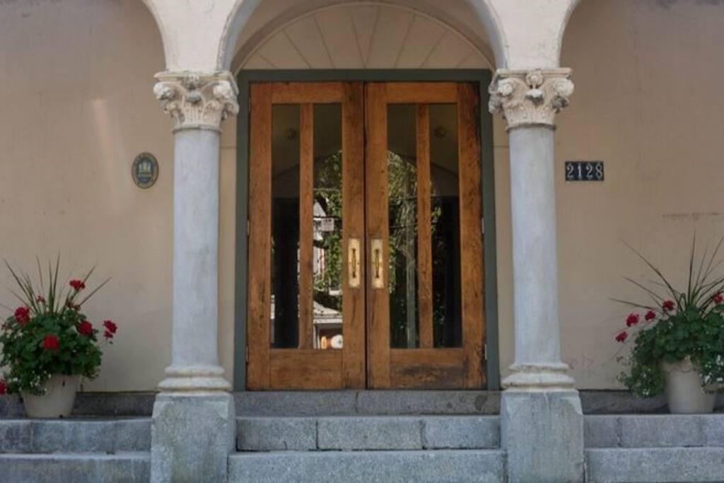 Front Door to Building