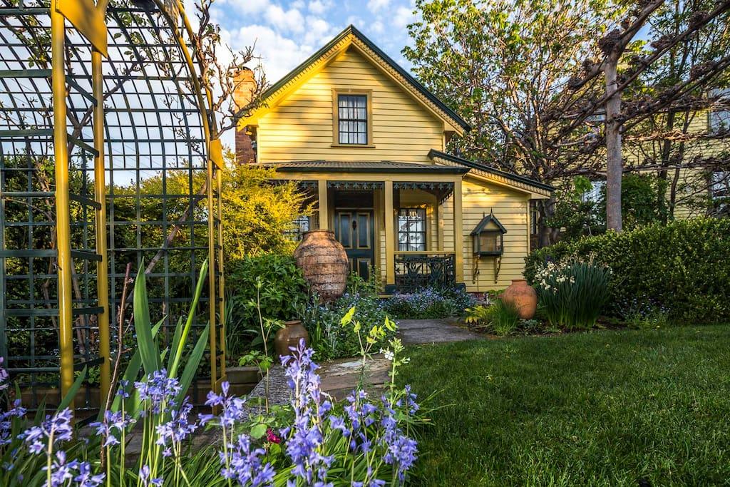 Cottage set in a tranquil garden