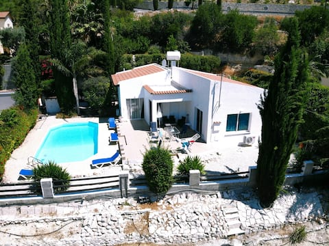 Spacious,tranquil villa with fabulous views.
