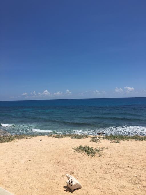 patio con vista al mar