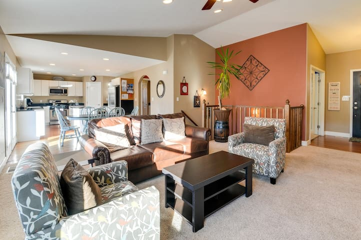 Updated, dog-friendly home for groups w/ private patio plus fenced yard