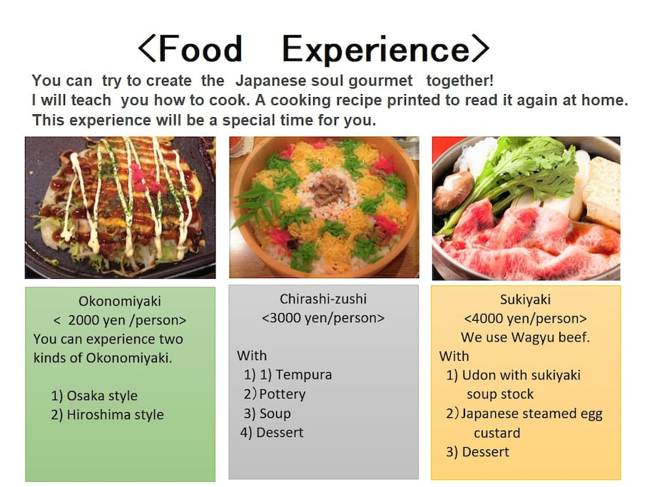 Japanese meal experience