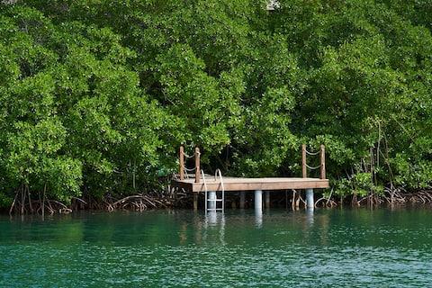 "Grand Bleu accès mer piscine ""bac à punch jacuzzi"""