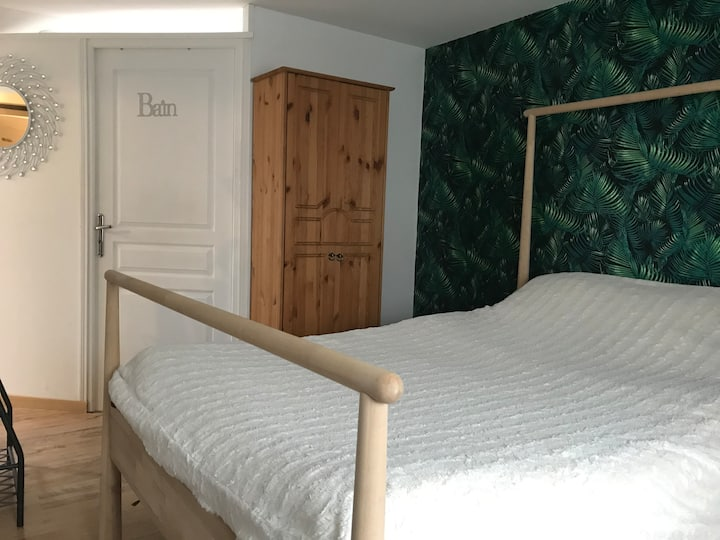 logement avec coin cuisine ,douche,wc privé