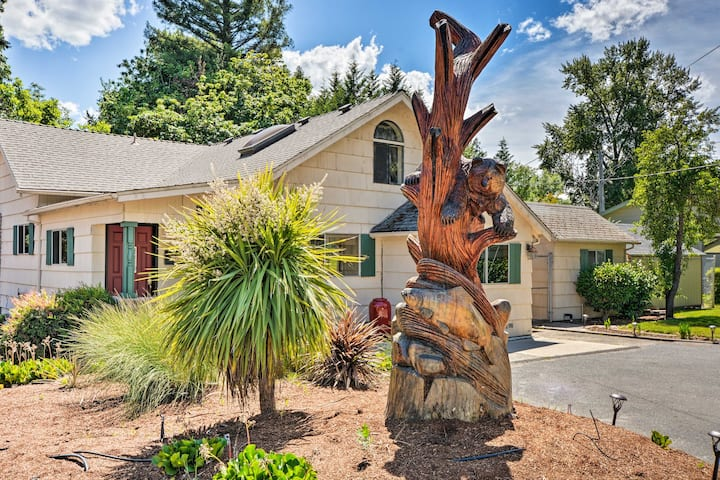 Riverfront Grants Pass Home w/ Pool & Yard!