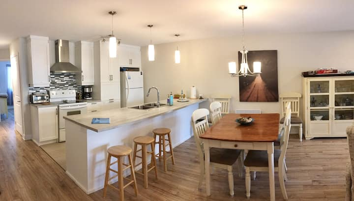 Open Concept Condo Between Granby and Bromont