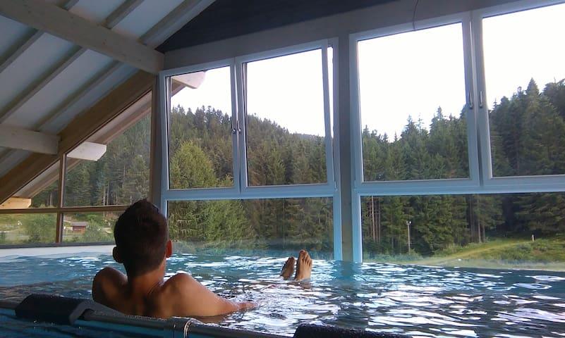 Apt 6 pers en pleine nature avec piscine bien être - Gérardmer - Condominio