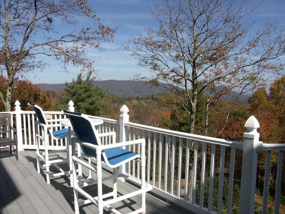 Deck with seating and View