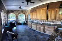 Outdoor kitchen and entertaining area