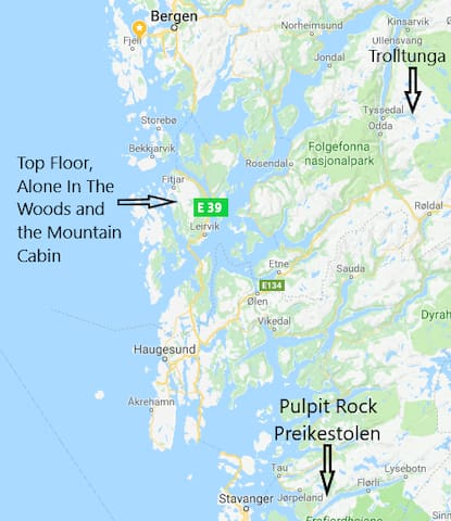 The island of Stord and Fitjar is located at the far end of the Hardangerfjord. On the west coast of Norway.