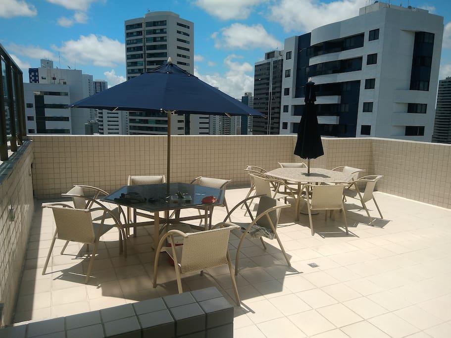 Varanda da piscina