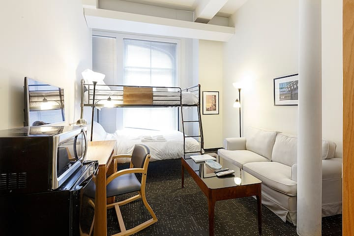 203 DTW Boston Studio Sleeps 3, Stay Tonight!