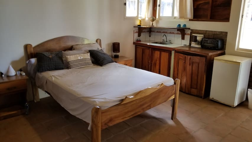 Casita #1 Bed - Double Bed - Will be made for you with fresh linens and towels