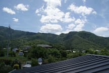 The view from the second floor room 二階客室からの眺め