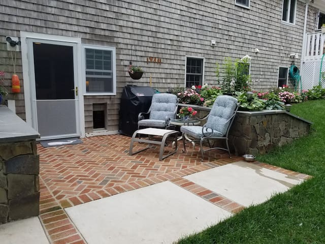 Entry/Patio Area with Doggie Door and New Weber Gas Grill