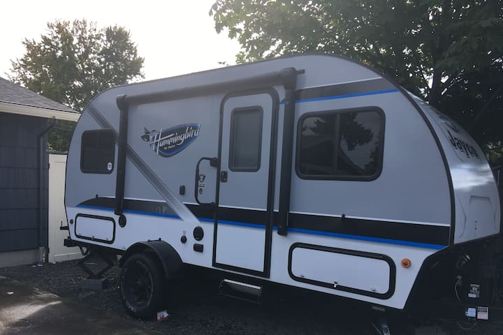 New RV with parking in driveway