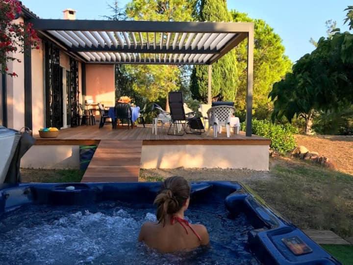 Villa OLMETO PLAGE vue mer 7 personnes jacuzzi
