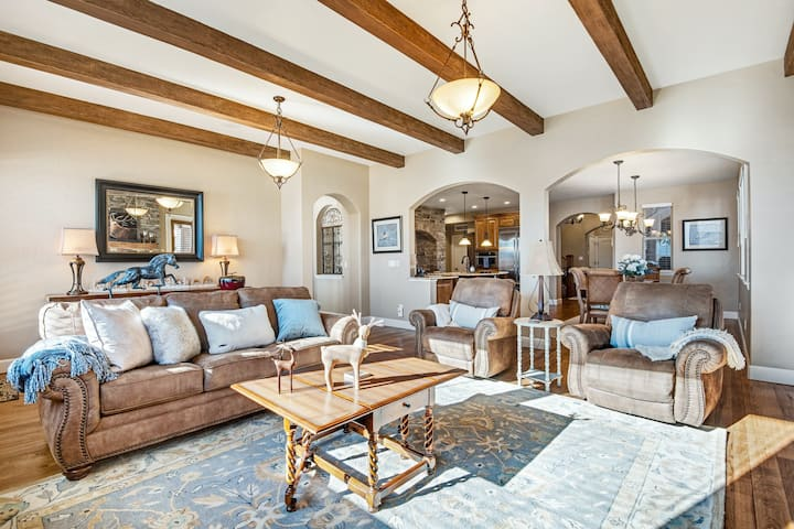 Dog-Friendly Delight w/ Free WiFi, Central A/C, Gas Fireplaces, & a Game Room