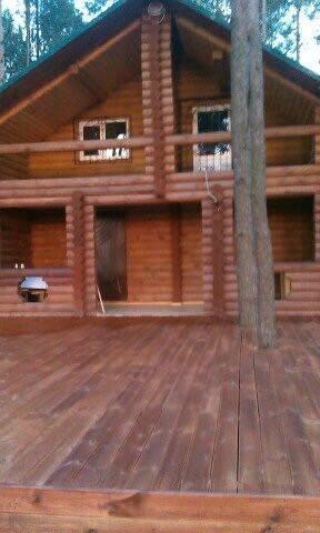 Эко дом в лесу с большой беседкой и камином!