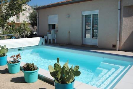 Charmante Villa avec piscine entre mer et montagne - Maureillas-Las-Illas - 別荘