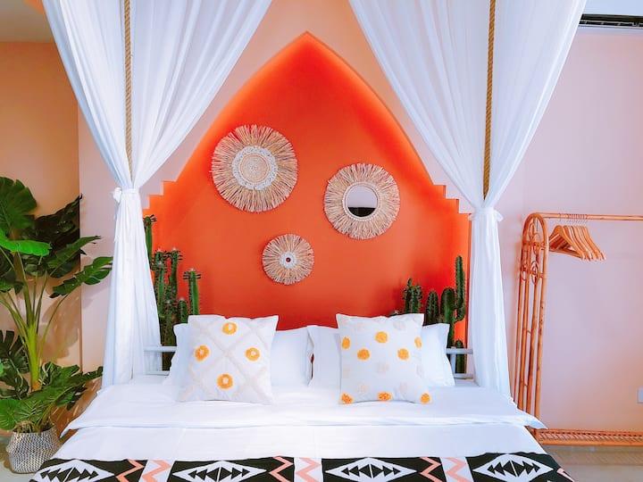 DH梦宿•「莫吉托」告庄•夜市•吊床浴缸豪华套房