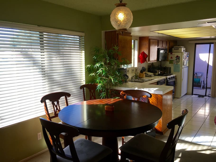 Shared dining area.