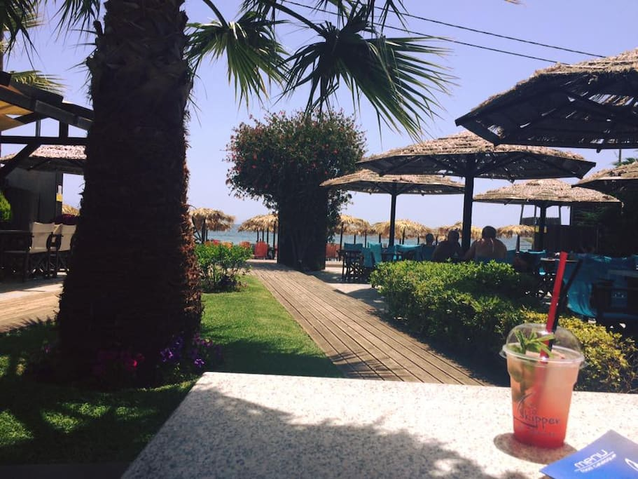 beach bar within walking distance from the house