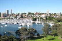 Take a stroll down to Rushcutters Bay park