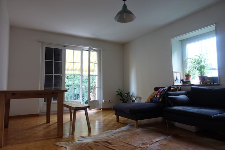 Charming living room close to Zurichsee Wolishofen